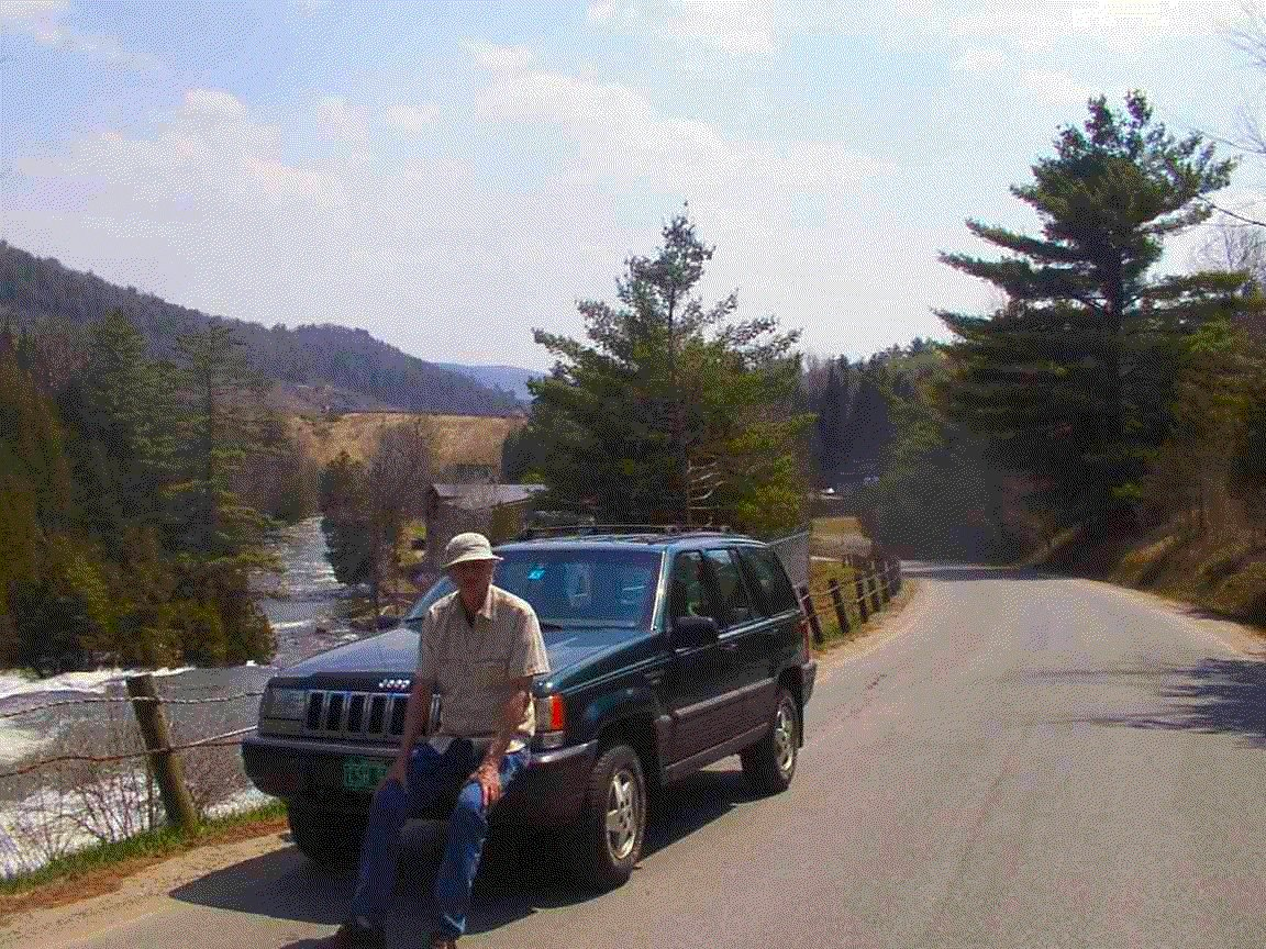 Bob is at Emerson Falls a mile from home in St. Johnsbury Vermont